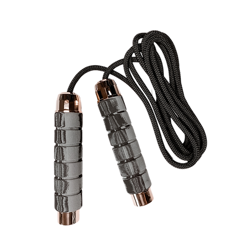 The Obsidian & Rose Gold Weighted Jump Rope