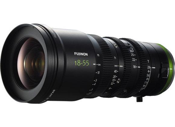 Fujinon MK18-55mm T2.9 Lens (Sony E-Mount & Sony FZ Mount) - $150/day+GST