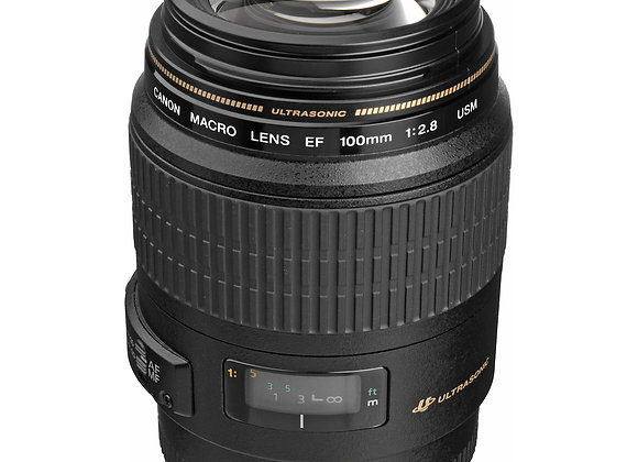 Canon EF 100mm F2.8L Macro USM Lens - $ 50/day+GST Incl. Insurance