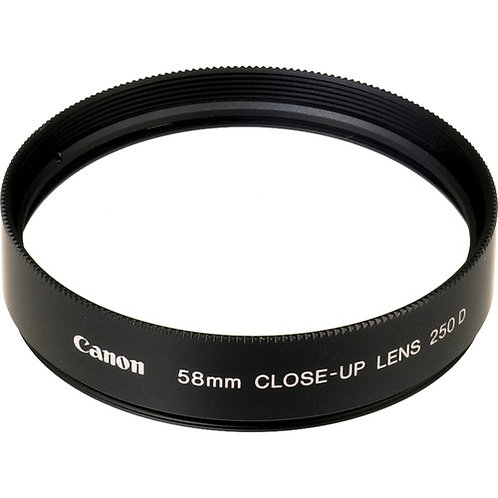 Canon 58mm 250D Close-up Lens - $30/day+GST