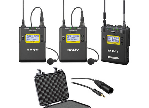 Sony 2-Channel Receiver with 2 Bodypack Transmitters & Lav Mics Kit $90/day+GST