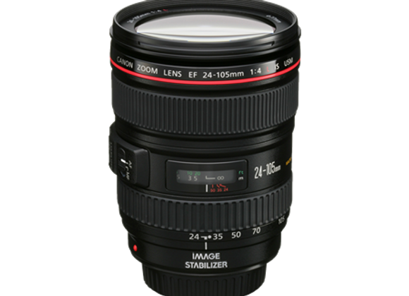 CANON EF 24-105MM F4 IS L - $70/day+GST Incl. Insurance