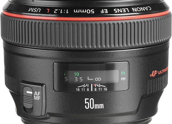 EF 50mm f/1.2L USM - $70/day+GST Incl. Insurance