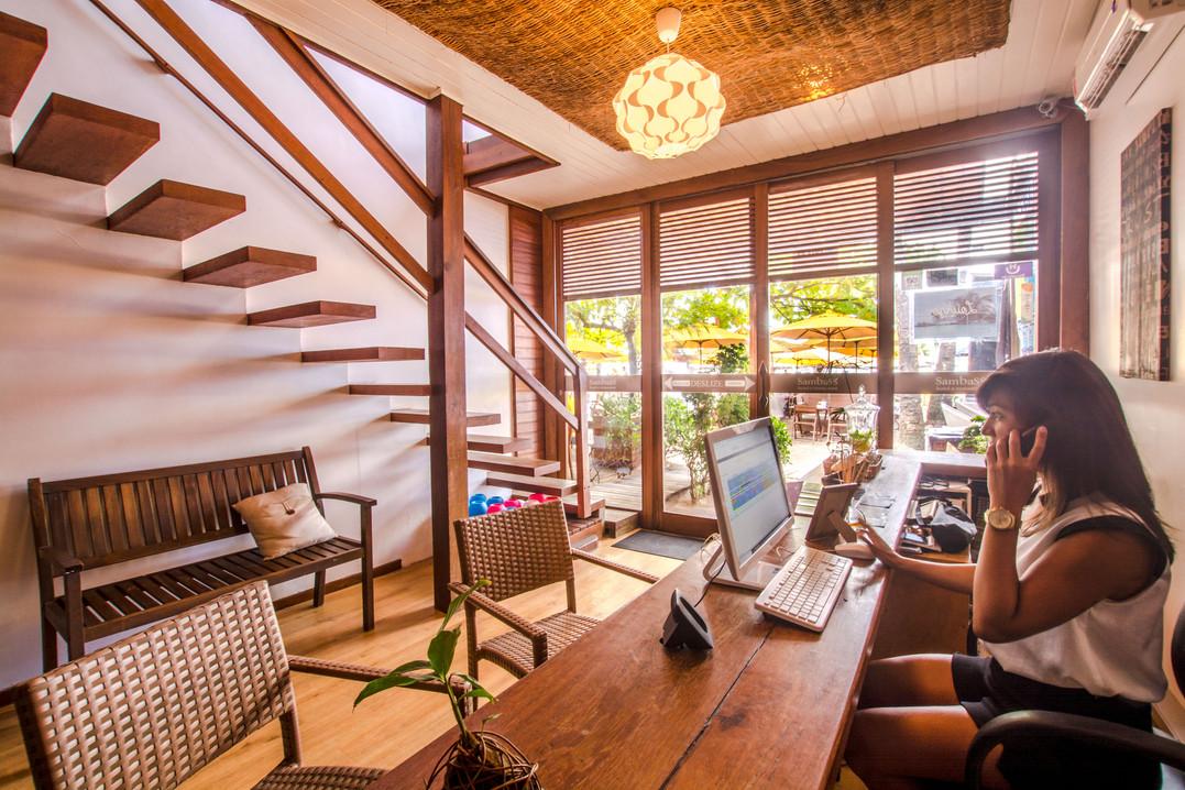 Recepção Hotel Sambass