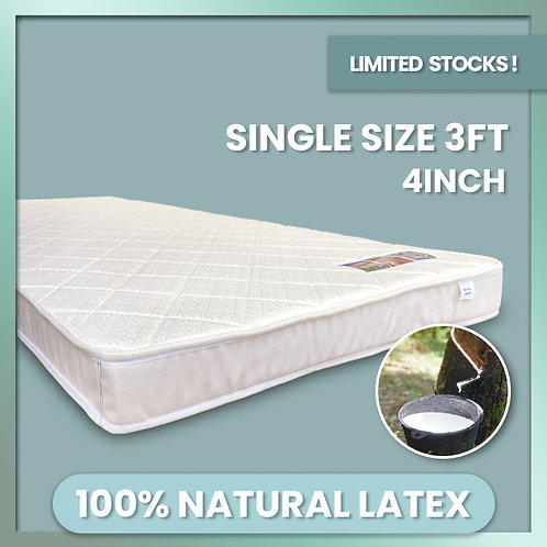 NATURAL WORLD Single 4inch Rebonded Latex Mattress