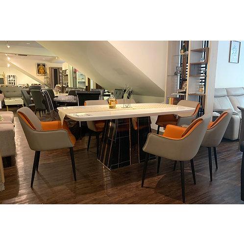 ODELIA Marble Dining Set