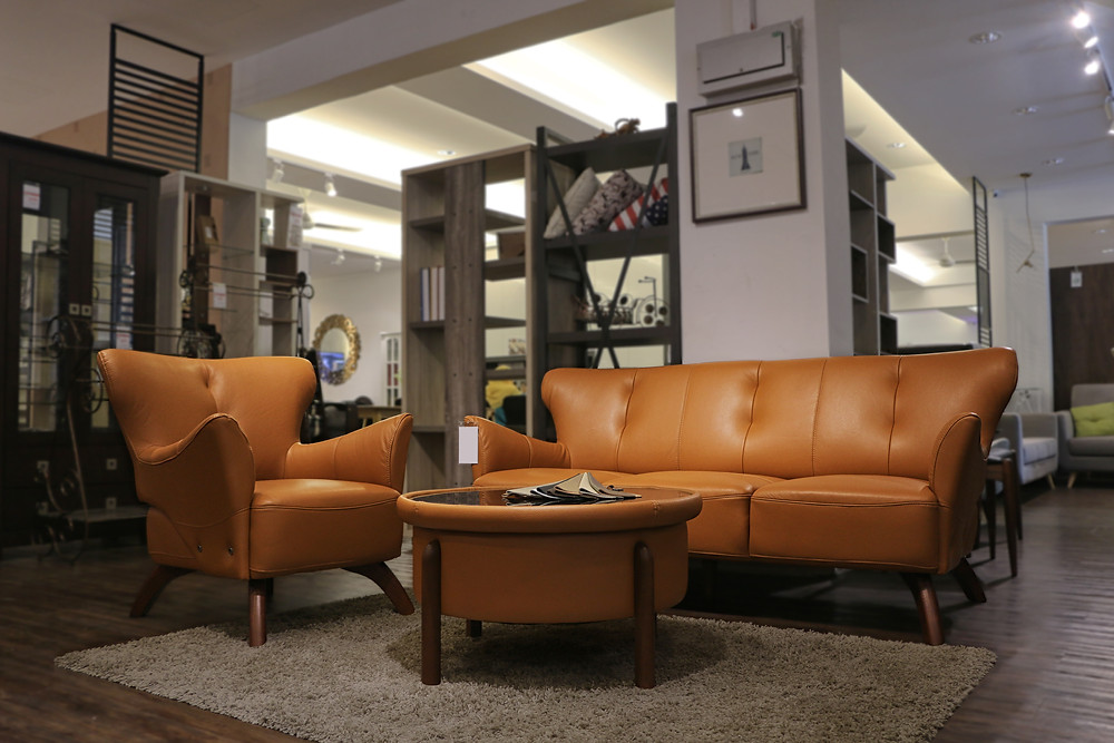 Mi Kuang Furniture l Blog l REMINGTON Thick Cowhide Leather Sofa Set