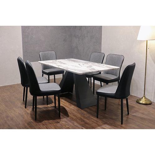 NASHAT 1+6 Marble Dining Set
