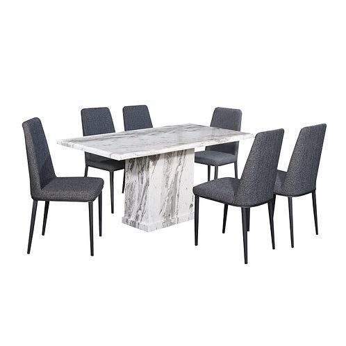 GARRIS Marble Dining Set