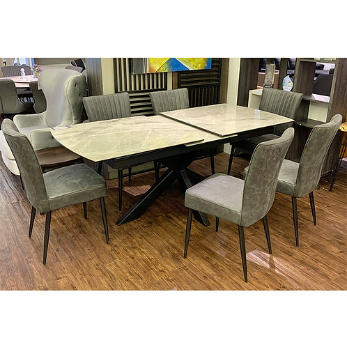 BURLEY Extendable Dining Set