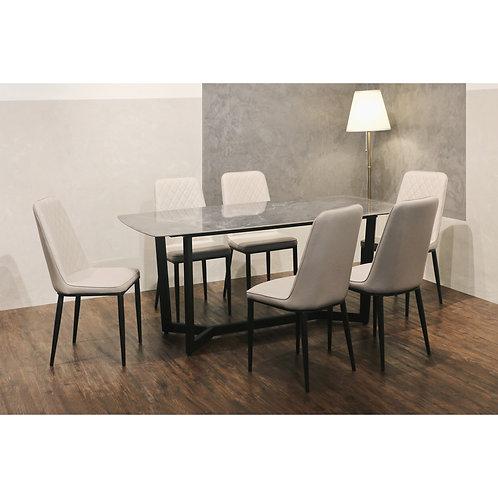 FUSSO(Grey) Dining Set