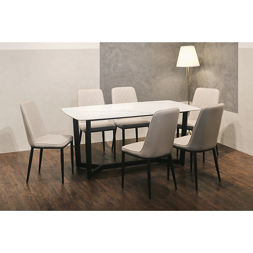 FUSSO(White) Dining Set