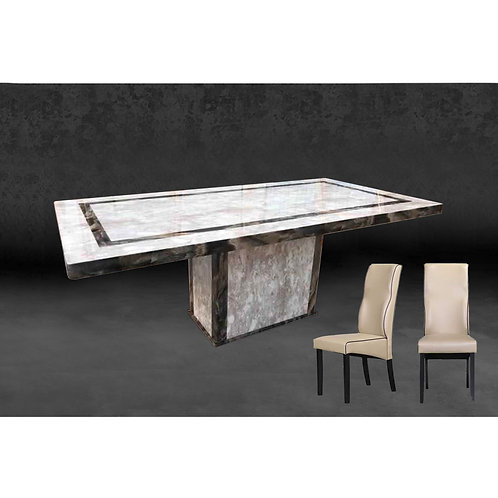 GENICA 6.5ft Marble Dining Set