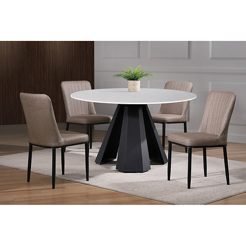 REFAEL 4ft 1+6 Marble Dining Set