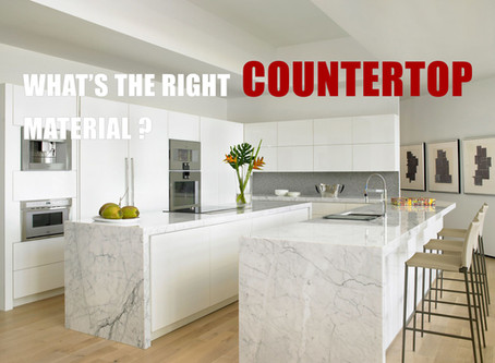 WHAT'S THE RIGHT COUNTERTOP MATERIAL FOR YOUR KITCHEN?