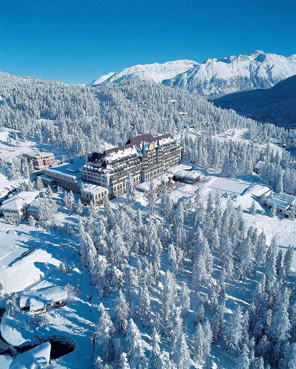 best ski resorts Switzerland, St. Moritz. winter landscape
