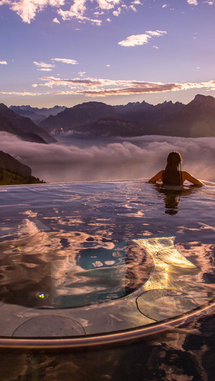 Most instagramable spa spots and infinity pools in Switzerland