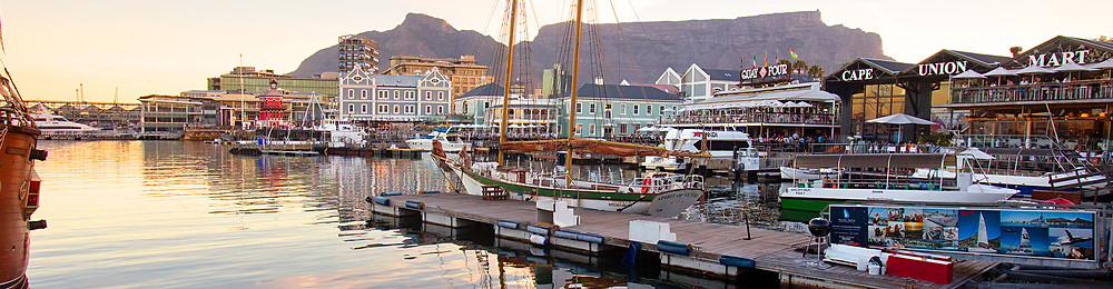V&A waterfront Cape Town South Africa panoramic view