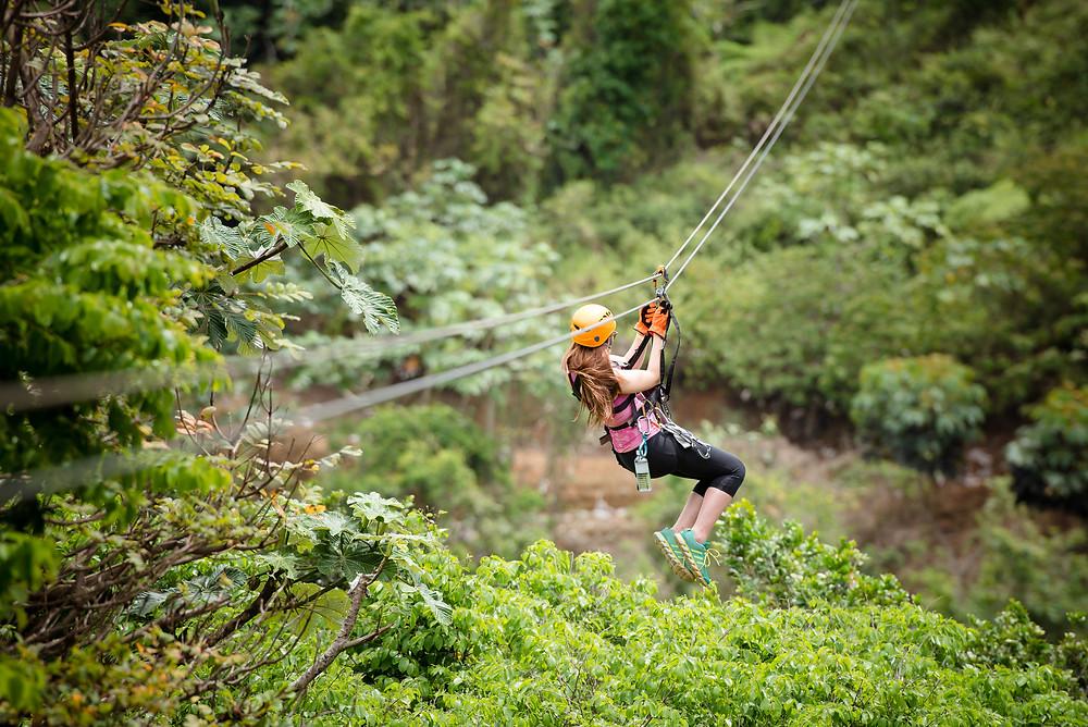 Toro Verde Adventure Park Puerto Rico, longest biplane in America, in the world, zippiness