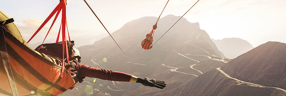 Jabel Jais zipline, UAE. the longest ziplane int he world