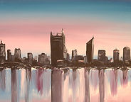 Perth cityscape painting