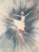 Ballerina Tutu painting