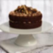 Vegan Double Choc Snickers Cake