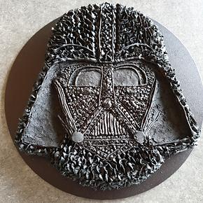 Baked Chocolate Darth Vader Cake