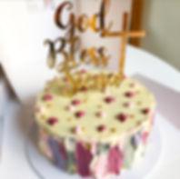 Custom Baptism Cake Vegan Gluten Free