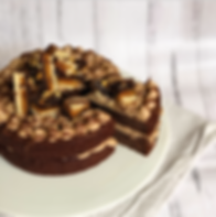 Double Choc Snickers Cake Gluten Free Ve