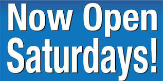 Now open saturdays.jpe