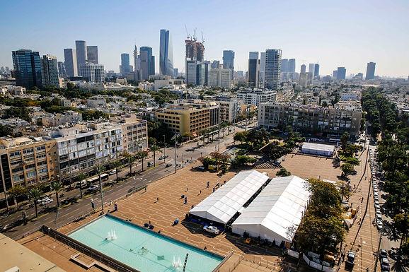 DECEMBER 31, 2020 - Tel Aviv-Yafo, Ichilov Hospital Open Rabin Square Vaccination Center