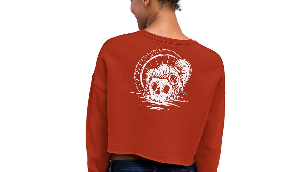 Slaydies Skull Cropped Sweatshirt