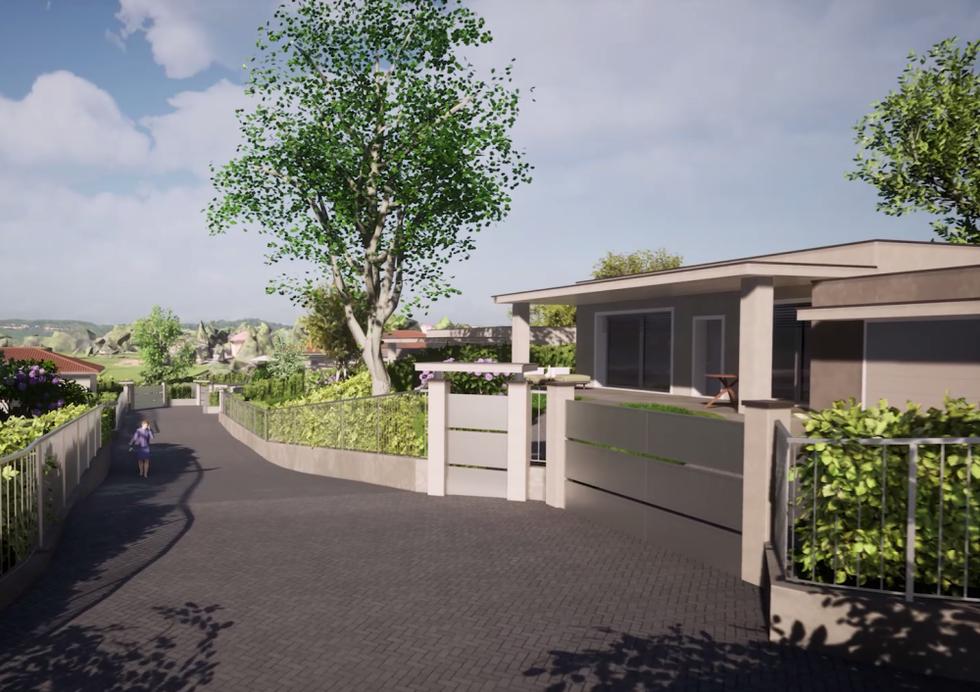 I viali del complesso residenziale sono riservati ai residenti e ai loro ospiti