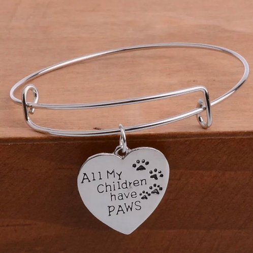 All My Children Have Paws Bangle