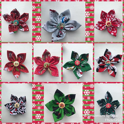 Christmas 🎄 Fabric Flowers