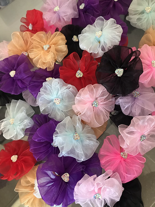 Mixed Valentine Puff Bows