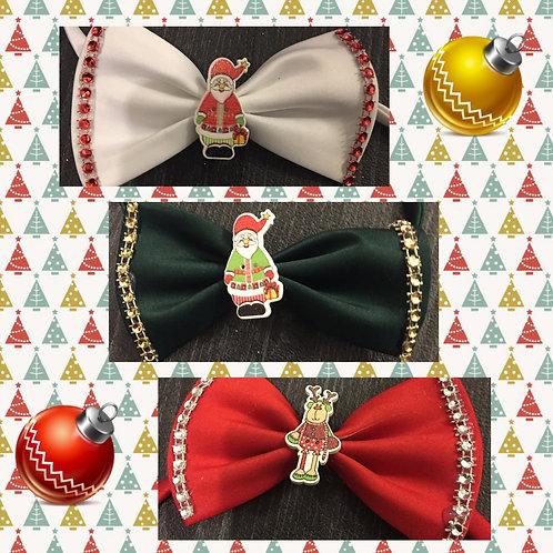 Red Christmas Bow Ties