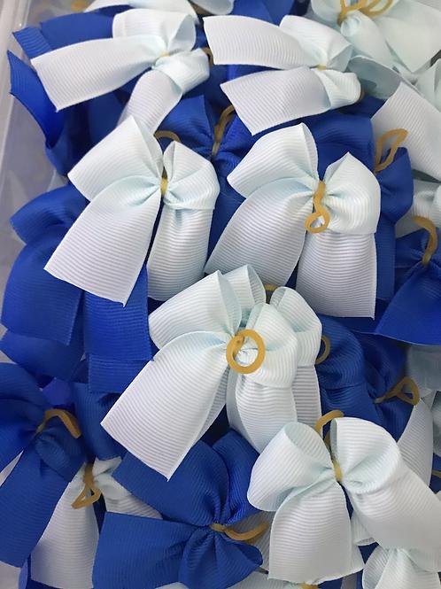 Plain Blue Collar Bows