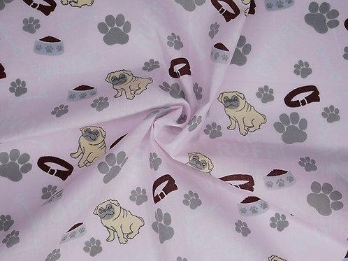 Pink Pug Necktie Bandanas