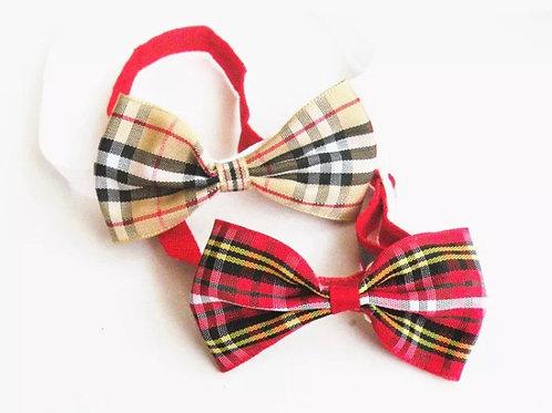 X10 Red Tartan Bow ties