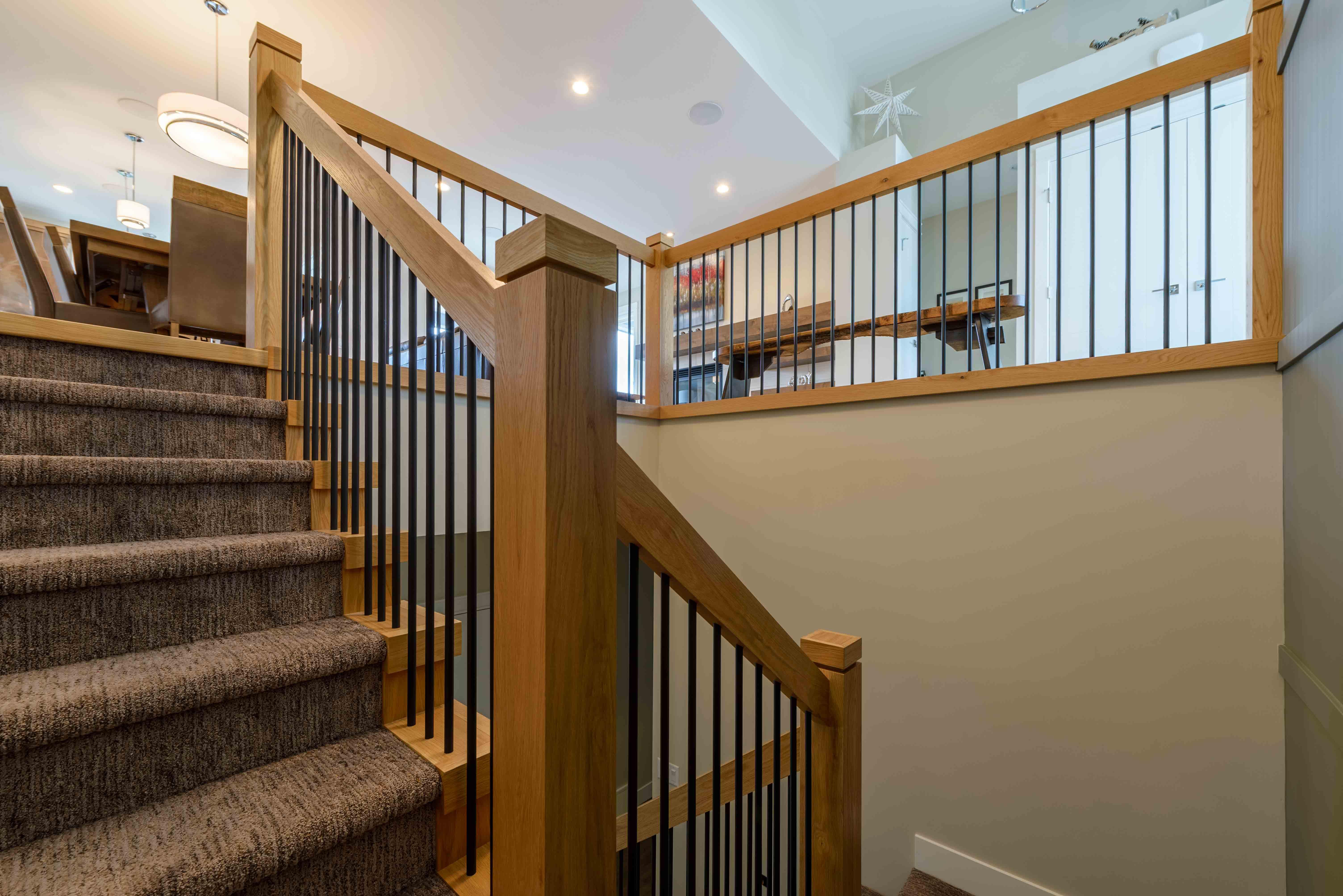 Shuswap staircase railings