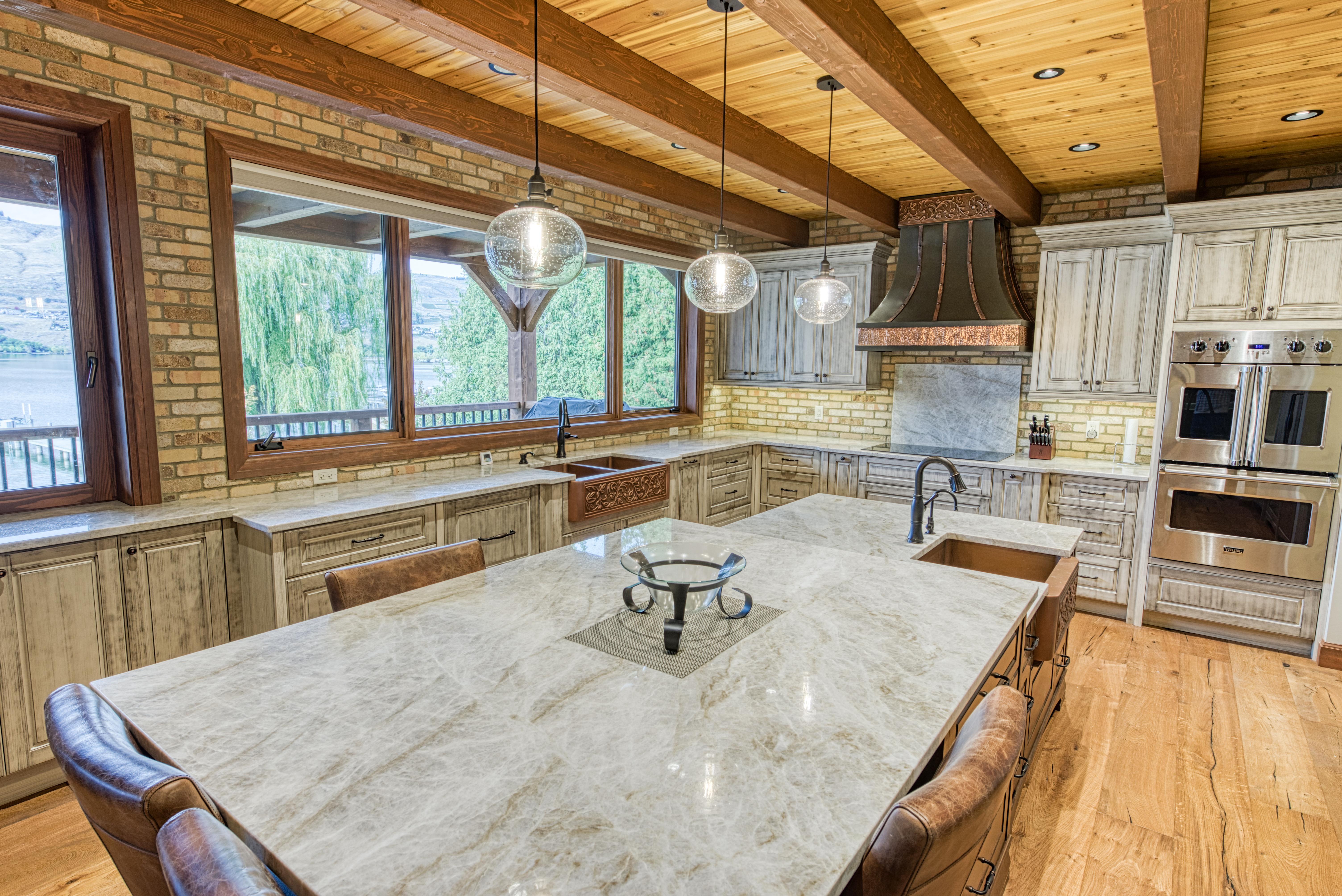 Copper kitchen and island sink