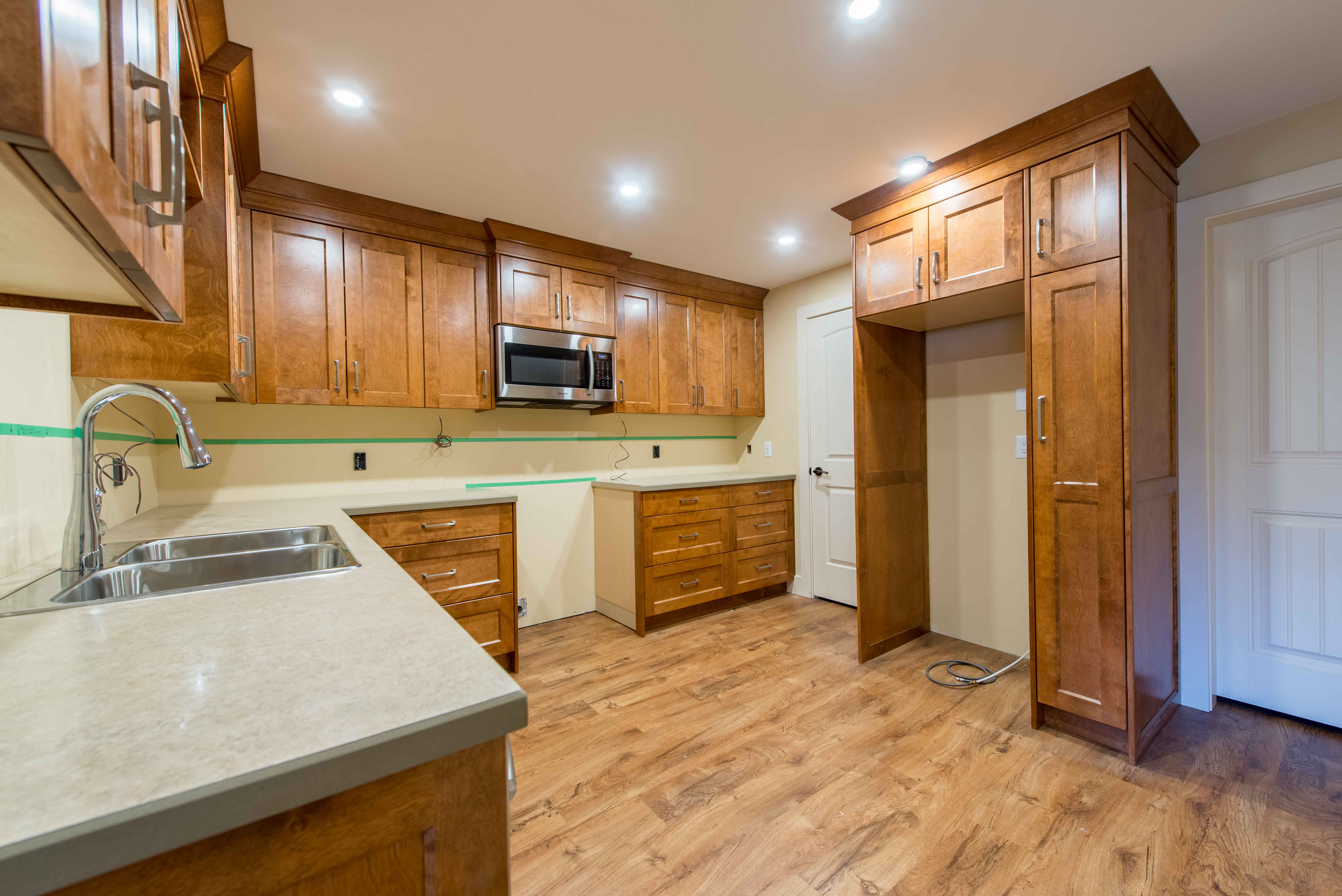 Cinamon-stained Birch Cabinetry