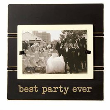 best party ever wedding picture frame black
