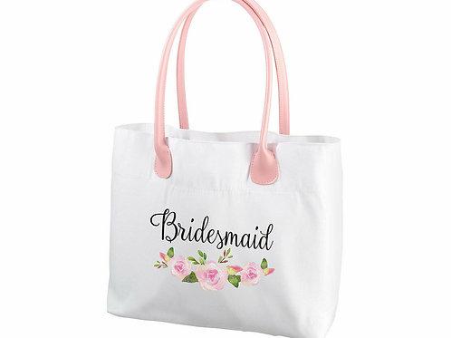 Watercolor Floral Bridesmaid Tote Bag