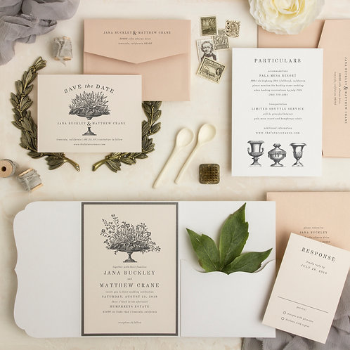 classic floral ivory wedding invitations save the dates i do boutique cypress tx houston wedding