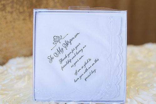 stepmom hankie wedding gift