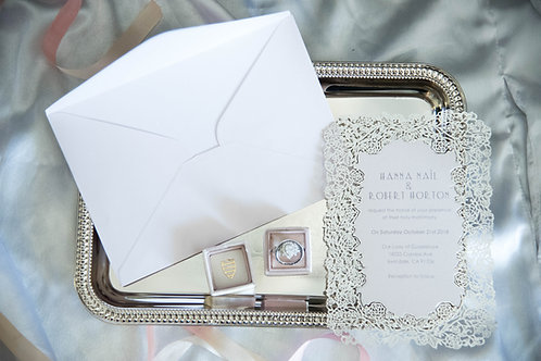 laser cut wedding invitations ivory