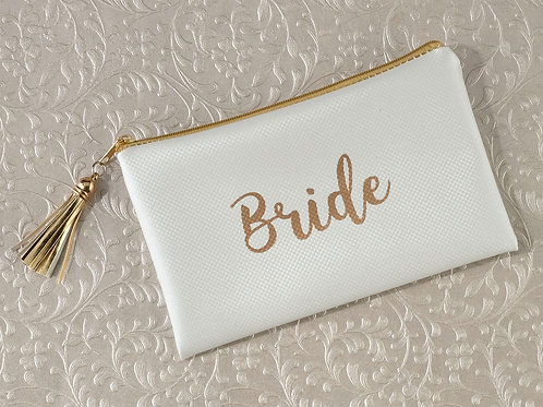 bride survival kit, bride gift, wedding gift, gold wedding, gold ivory wedding, survival bag, wedding day survival kit